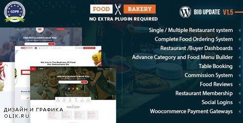 ThemeForest - FoodBakery v1.5.0 - Food Delivery Restaurant Directory WordPress Theme - 18970331 -