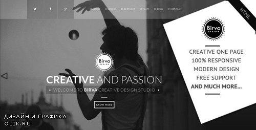 ThemeForest - Birva Design v1.0 - Creative One Page Theme - 7166530