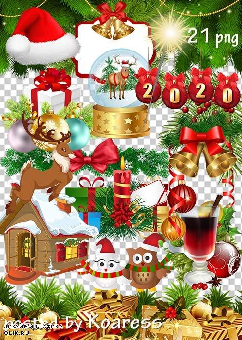 Клипарт png - Новогодние украшения-3