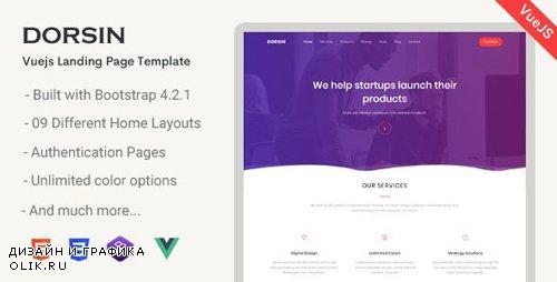ThemeForest - Dorsin v1.0.0 - VueJs Landing Page Template - 23972100