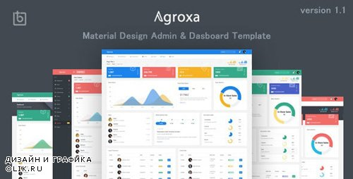 ThemeForest - Agroxa v1.0 - Material Design Admin & Dashboard Template - 22707790