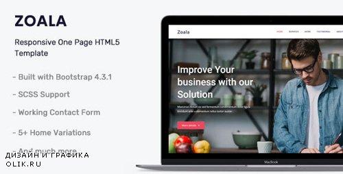 ThemeForest - Zoala v1.0 - One Page HTML5 Template - 24842144