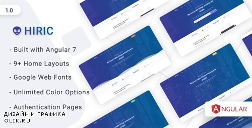 ThemeForest - Hiric v1.0 - Angular Landing Template - 23947088