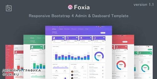 ThemeForest - Foxia v1.1 - Admin & Dashboard Template - 22935586