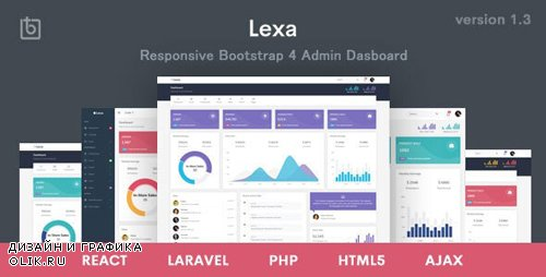 ThemeForest - Lexa v1.3 - Responsive Admin & Dashboard Template - 22555127
