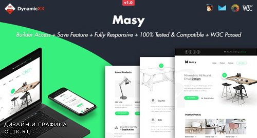 ThemeForest - Masy v1.0 - Responsive Email + Online Template Builder - 24853811