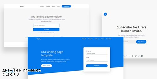 ThemeForest - Ura v1.0 - Multipurpose Landing Page Template - 24991969