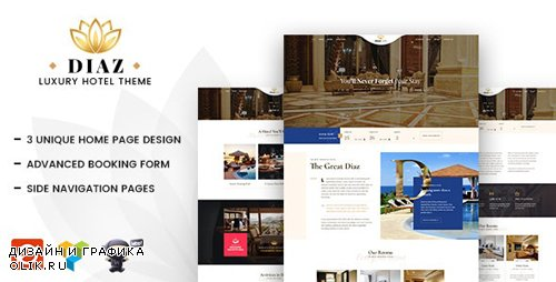 ThemeForest - Diaz v1.8 - Hotel WordPress - 21176090