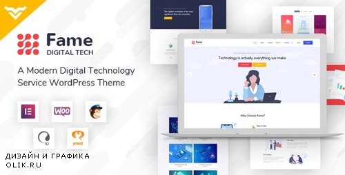 ThemeForest - Fame v1.2 - Digital Technology/Service WordPress Theme - 23712074