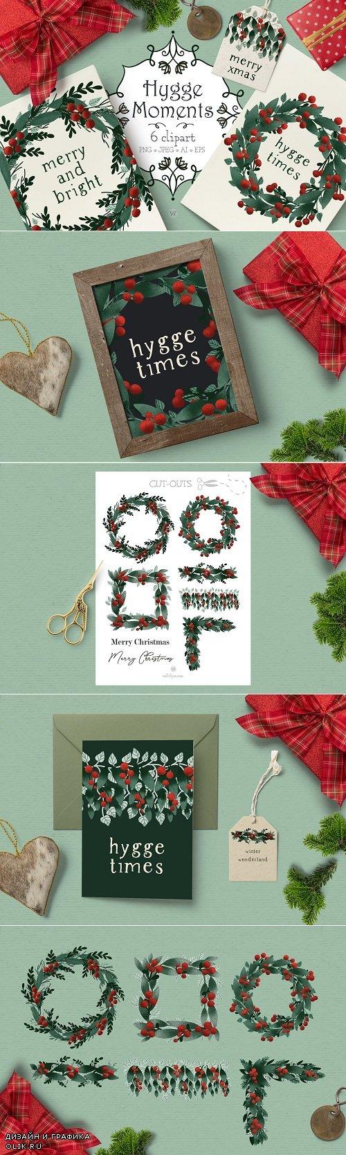 Christmas wreath clipart - 4278220