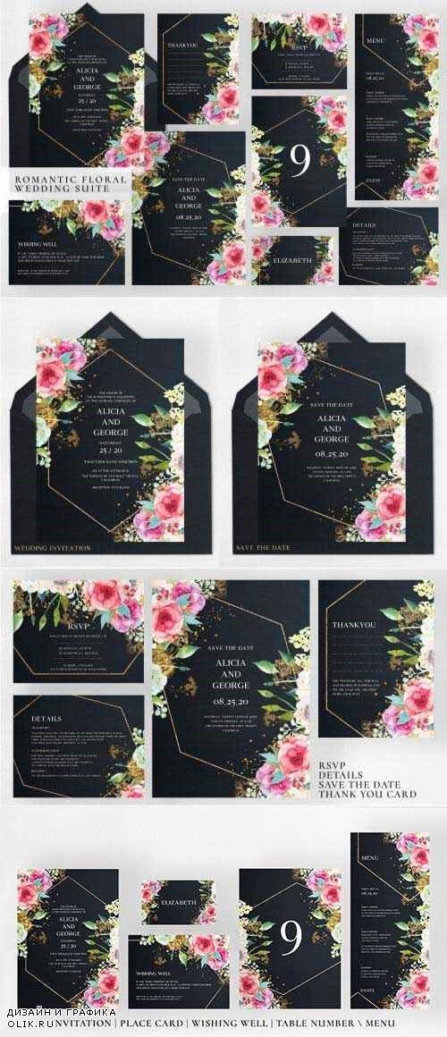 Romantic Floral Wedding Suite - 4273742