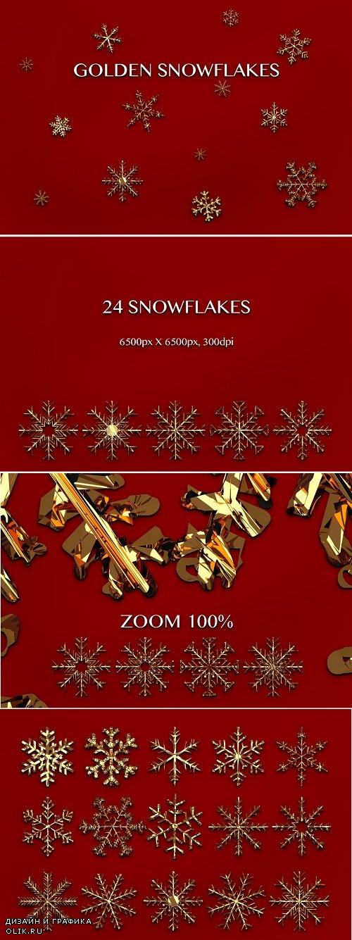 Snowflakes - Gold - 4270500