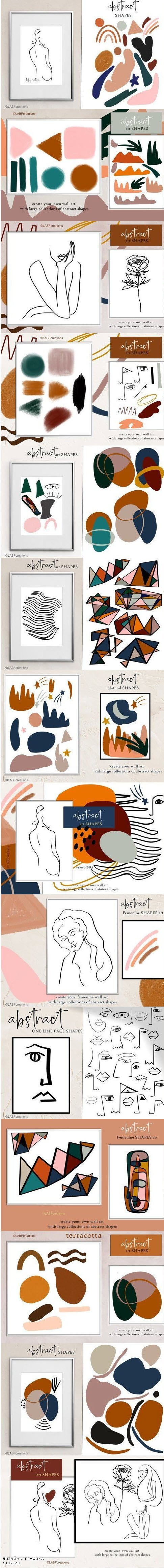 Abstract shape art clipart - 4260318