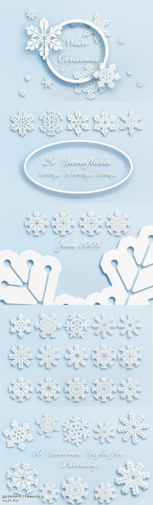 Snowflakes - White Christmas - 4270020