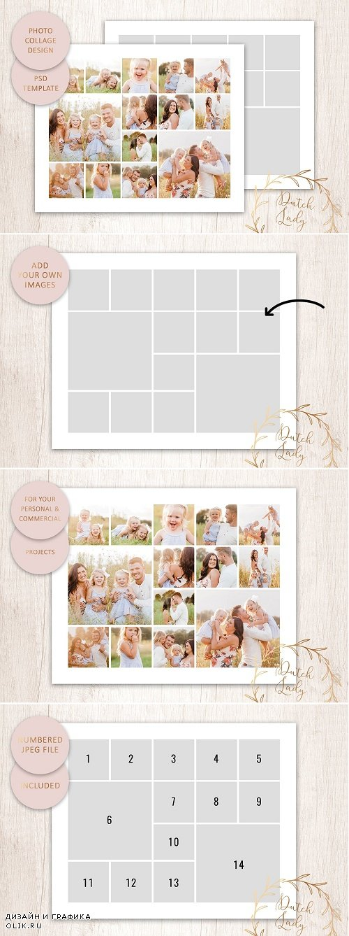 PSD Photo Collage Template #1 - 4270072
