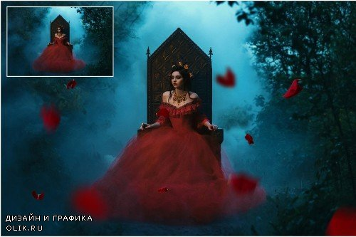 5K Red Rose Petals Overlays - 1497326