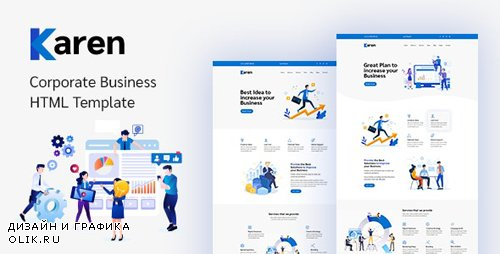 ThemeForest - Karen v1.0.1 - Corporate Business Bootstrap 4 Template - 24991951