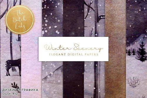 Digital Backgrounds Winter Sceneries - 4286837