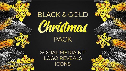 Black and Gold Christmas Pack 322997 - After Effects Templates