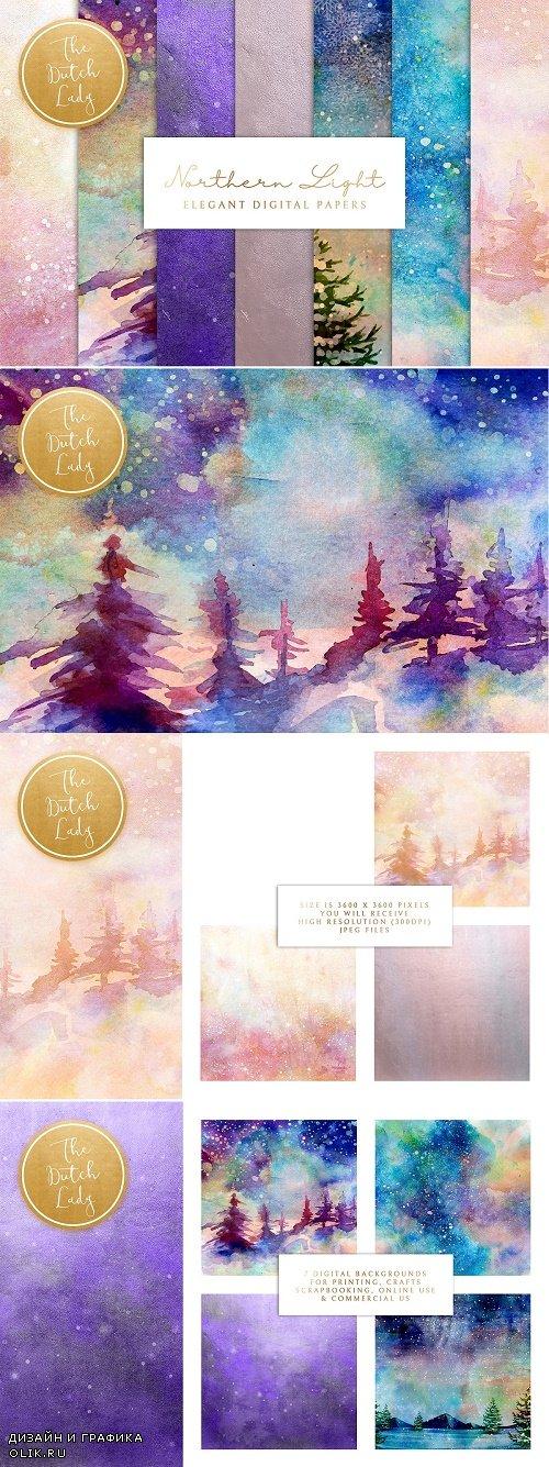 Digital Backgrounds Northern Lights - 4294581