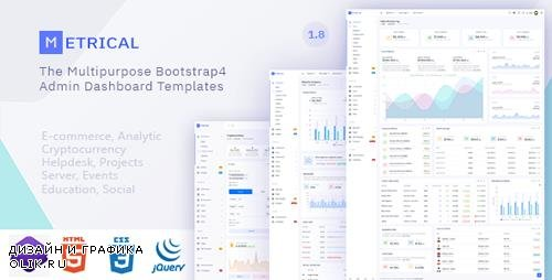 ThemeForest - Metrical v1.8 - Multipurpose Bootstrap4 Admin Dashboard Template - 24250418
