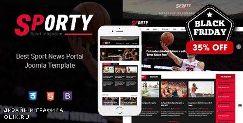 ThemeForest - Sj Sporty v3.9.6 - Flexible Sports News Joomla Template - 23246129