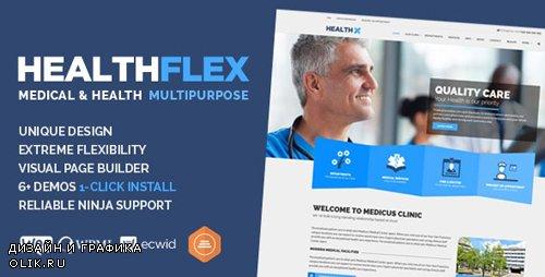ThemeForest - HEALTHFLEX v1.6.2 - Doctor Medical Clinic & Health WordPress Theme - 13115123