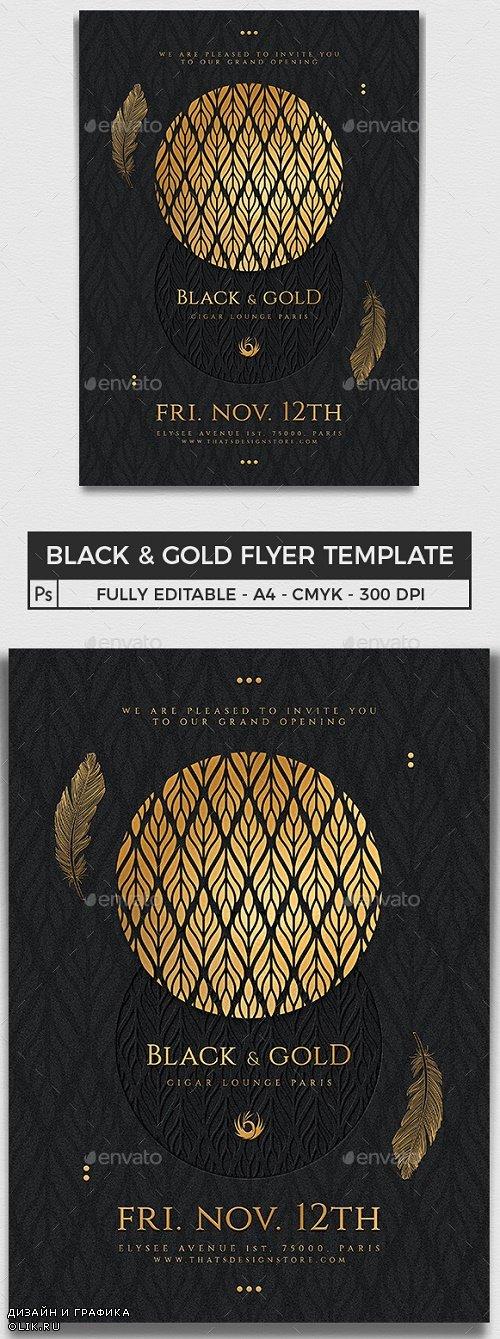 Black and Gold Flyer Template V13 - 25098454 - 4312144