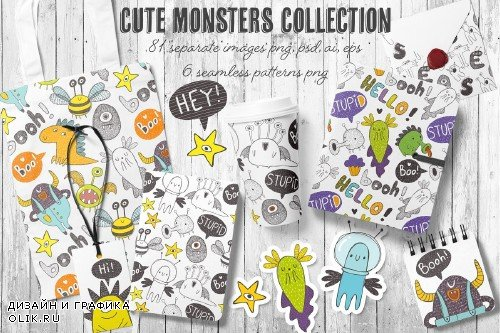 Doodle monsters collection - 2413318