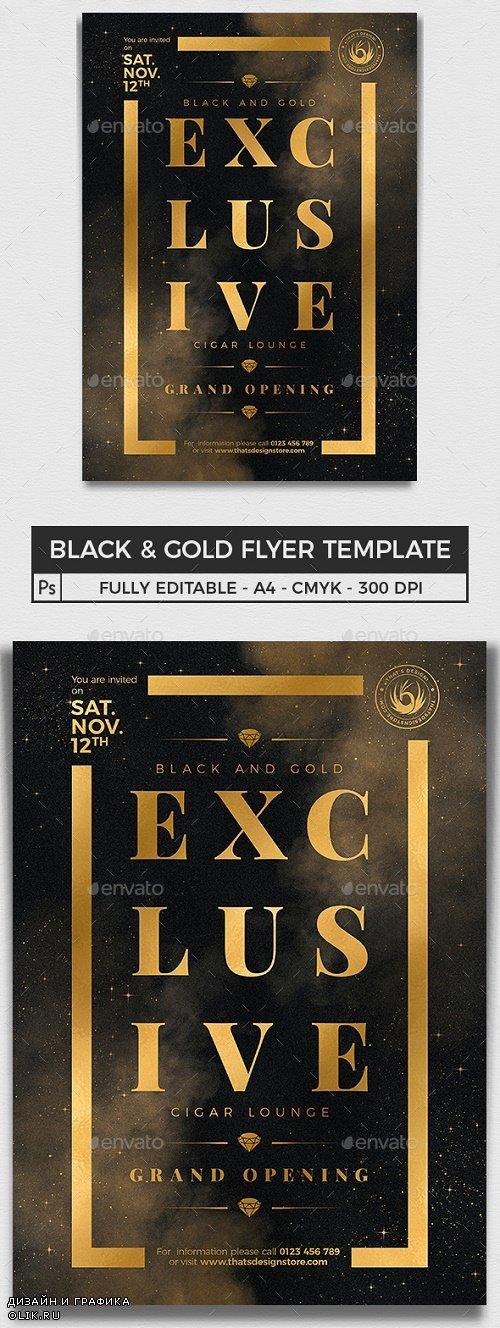 Black and Gold Flyer Template V14 - 25102909 - 4314402