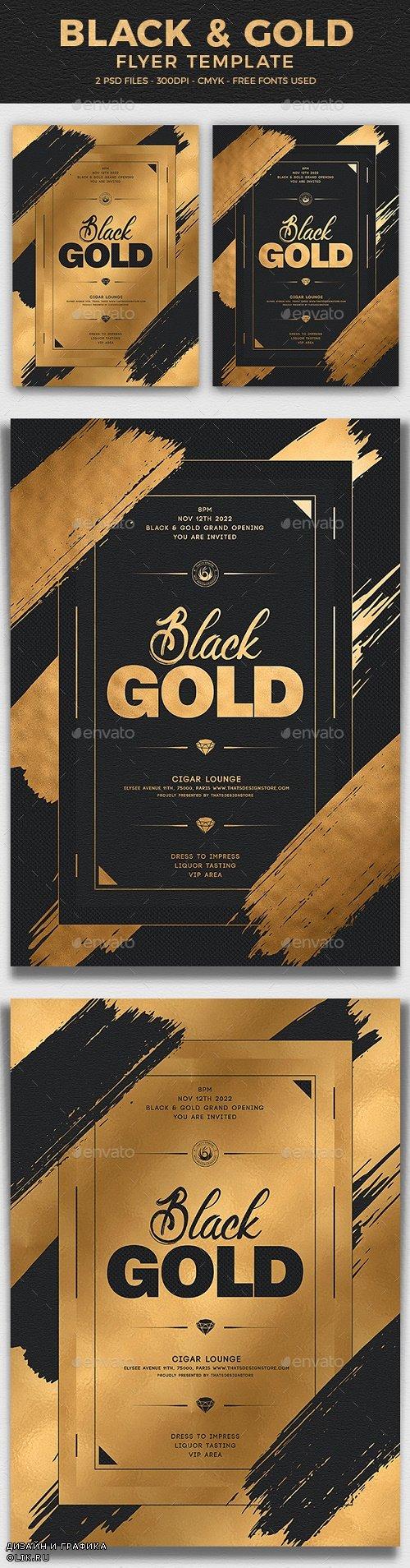 Black and Gold Flyer Template V15 - 25121989 - 4321812