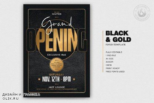 Black and Gold Flyer Template V16 - 4343730