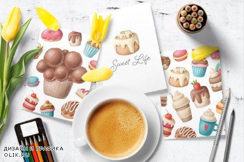 Dessert clipart collection - 4330493