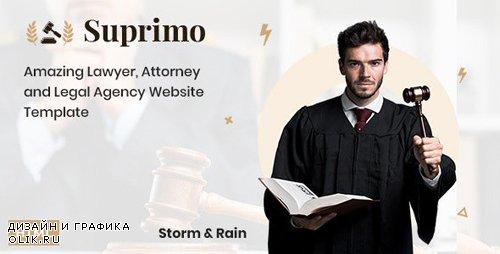 ThemeForest - Suprimo v1.0 - Lawyer Attorney Website HTML Template (Update: 26 November 19) - 25132077