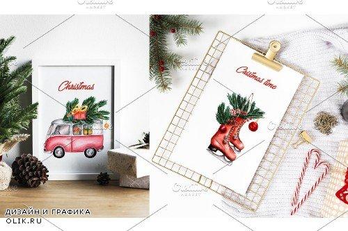 Watercolor Christmas Illustrations - 3702589