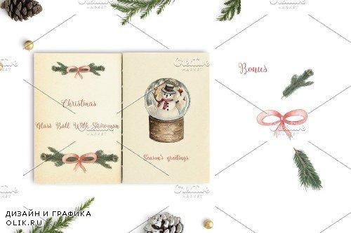 Christmas Glass Ball With Snowman - 3977680