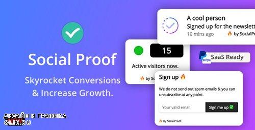 CodeCanyon - Social Proof v1.5.1 - Skyrocket Conversions & Growth ( SaaS Platform ) - 24033812 -