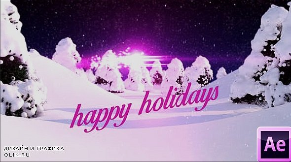 Christmas And Happy Holidays - After Effects Templates