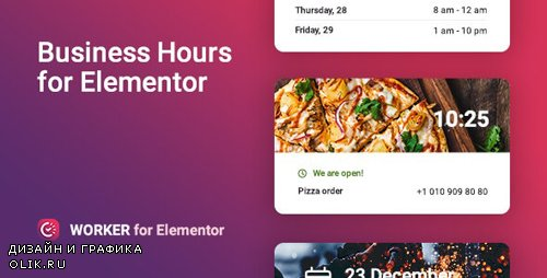 CodeCanyon - Business hours widget for Elementor - Worker v1.0.0 - 25241949