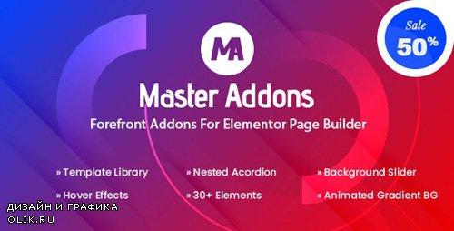 CodeCanyon - Master Addons v1.2.1 - Forefront Addons for Elementor - 25029297 -