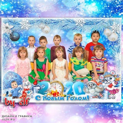 Рамка для детского сада или начальной школы - За окошком снег идёт, значит, скоро Новый год