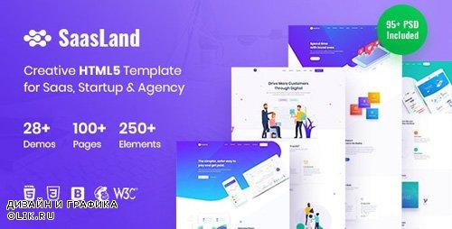 ThemeForest - SaasLand - Creative HTML5 Template for Saas, Startup & Agency (Update: 29 October 19) - 22712080