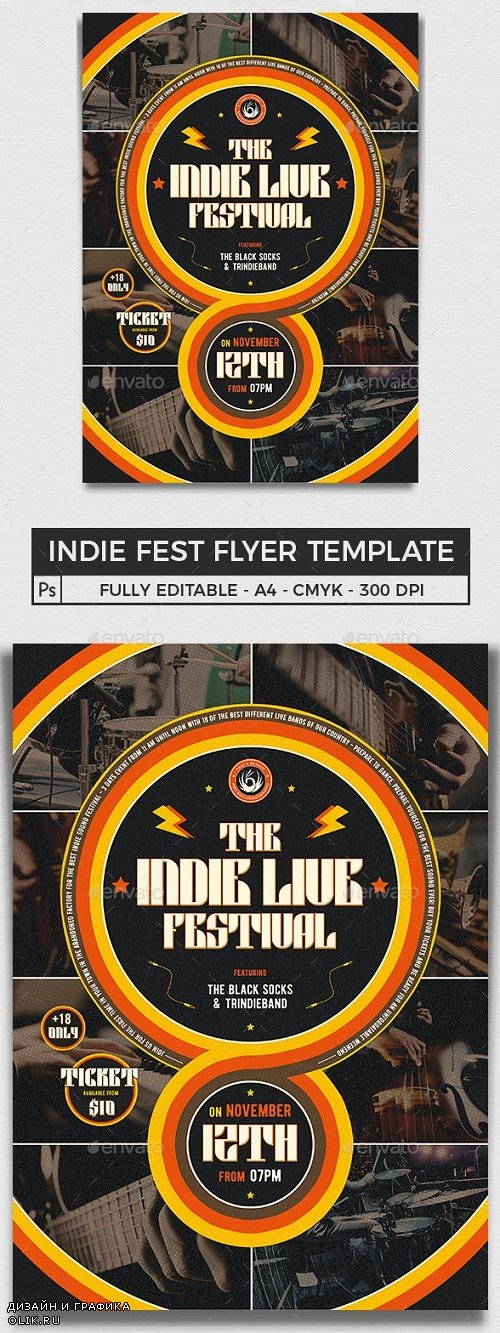 Indie Fest Flyer Template V6 - 25282126 - 4388006