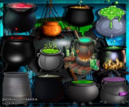 Растровые клипарты - Волшебные чаны