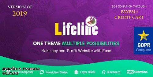 ThemeForest - Lifeline v6.0 - NGO, Fund Raising and Charity WordPress Theme - 7044503