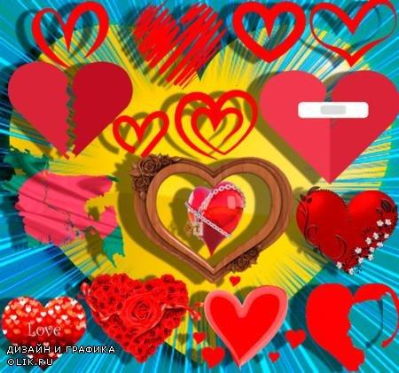Png клипарты для фоторамки - Любовное сердце