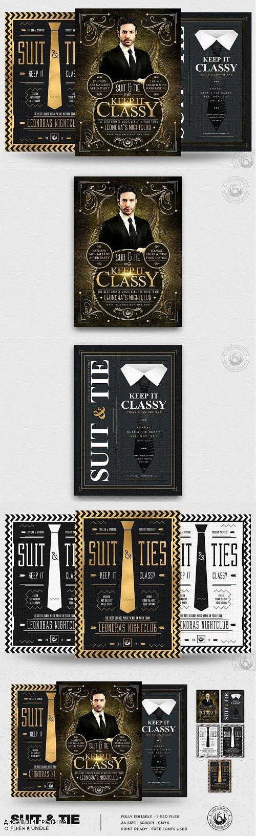 Suit and Tie Flyer Bundle - 4435741