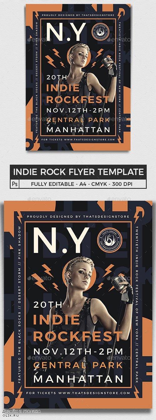 Indie Rock Flyer Template V7 - 25383563 - 4432726