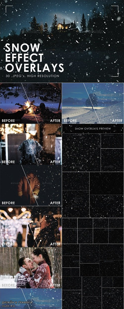 Graphicriver - Snow Effect Overlays - 25262884