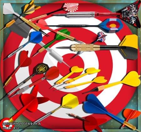 Растровые клипарты для фоторамок - Darts